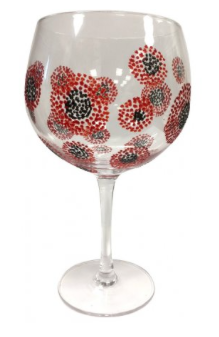 Poppy Burst Gin Glass