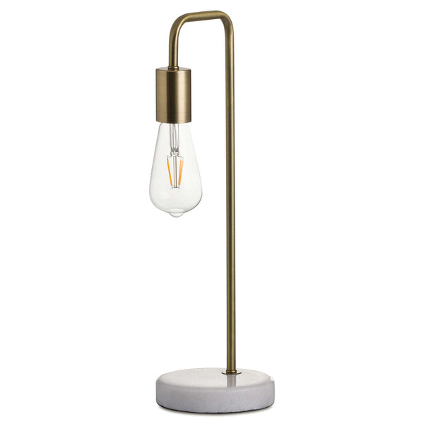 Brass Industrial Stone Based Lamp