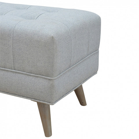 Grey Scandinavian Tweed Foot Stool