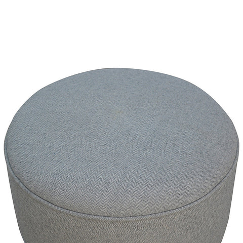 Grey Scandinavian Tweed Stool
