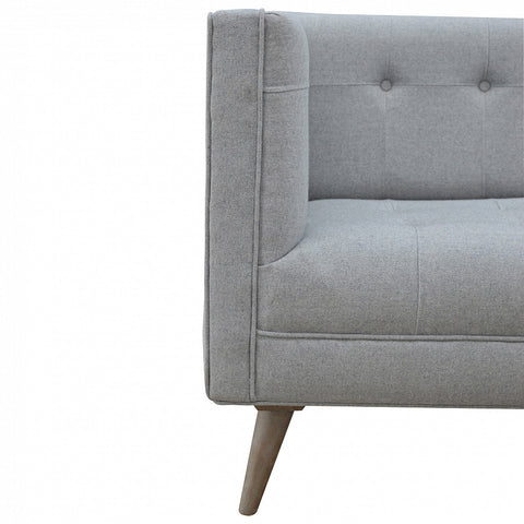 Grey Scandinavian Tweed Sofa