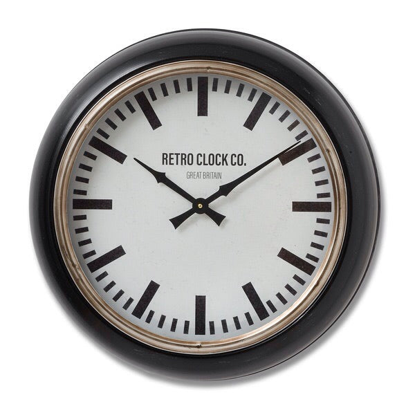 Deep Rimmed Retro Clock