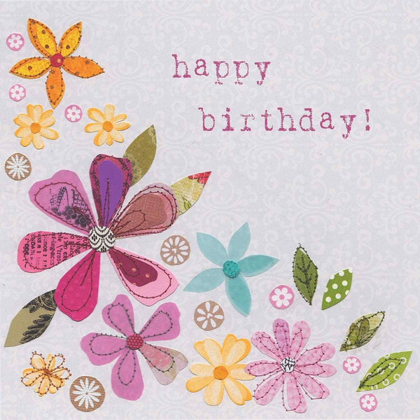 Flower Happy Birthday Card