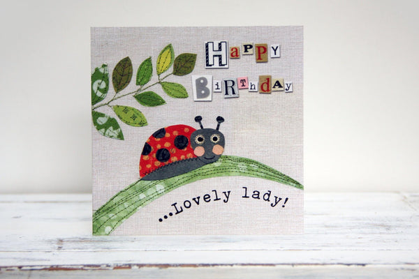 Happy Birthday Lovely Lady Greeting Card