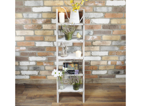 White Ladder Style Shelves