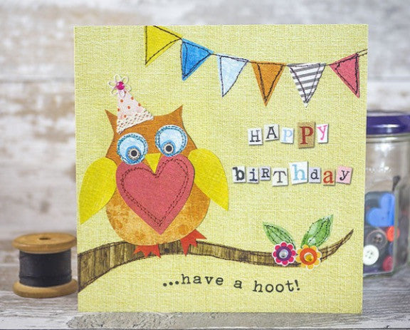 Have a hoot Happy Birthday Card