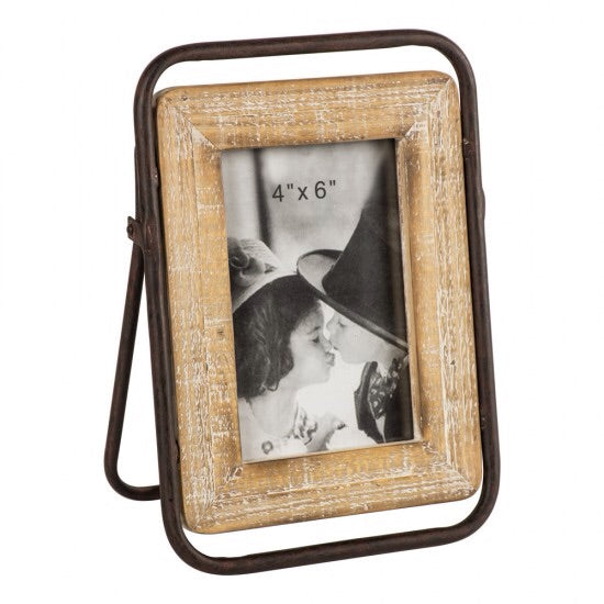 Industrial Wooden Photo Frame