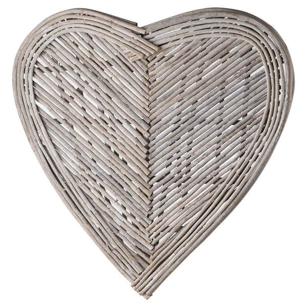 Medium Wicker Heart Wall Art