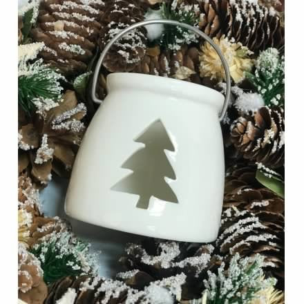 White Porcelain Tree T-light Holder