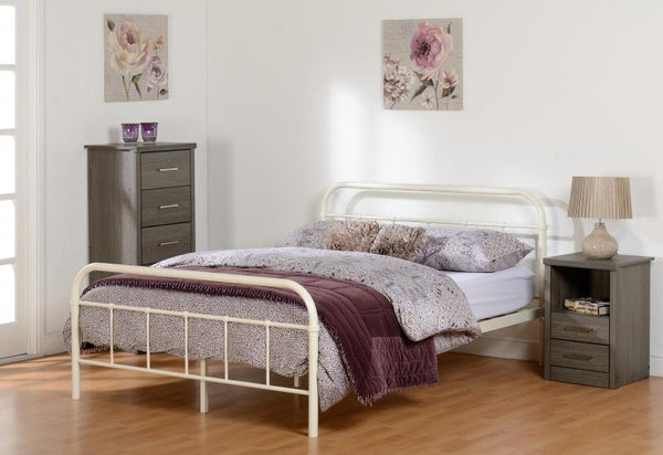 Brooklyn Double Cream Bed
