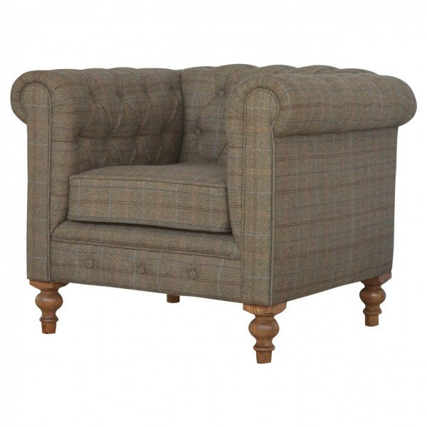 Tweed Chesterfield Chair