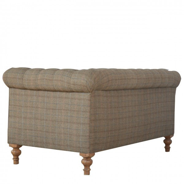 Tweed Chesterfield 2 Seater Sofa