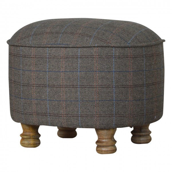 Tweed Oval Footstool