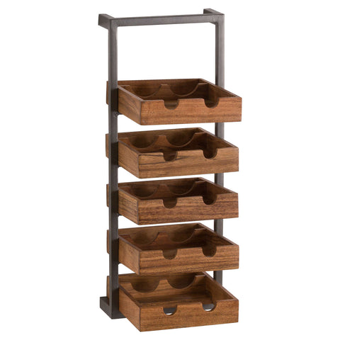 Industrial 10 Bottle Wine Rack