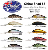 Lucky Craft Chinu Shad 55