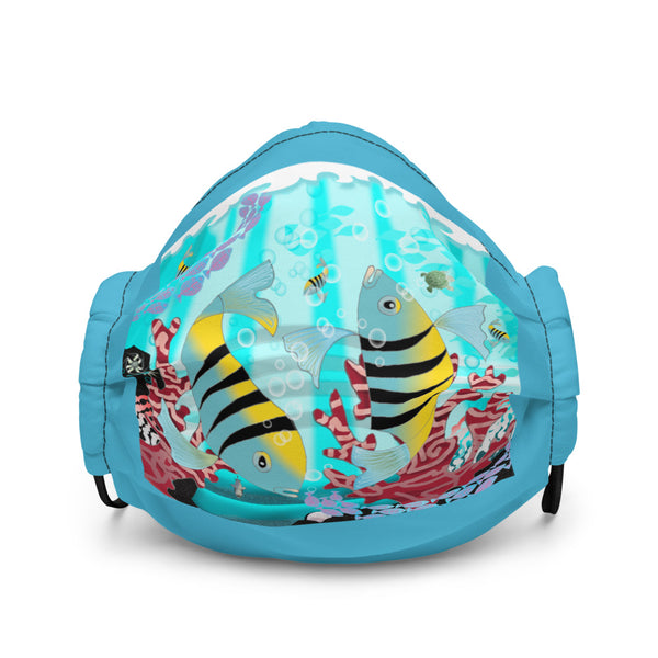 Premium face mask, Coral Reef Fish