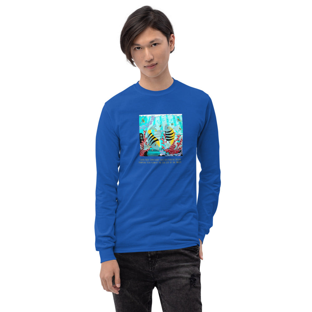 Men's Long Sleeve Shirt, Coral Reef Fish