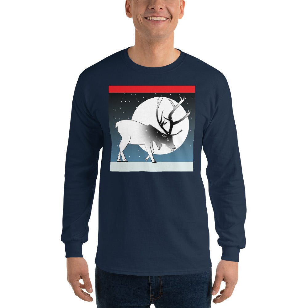 Long Sleeve T-Shirt, Winter Deer