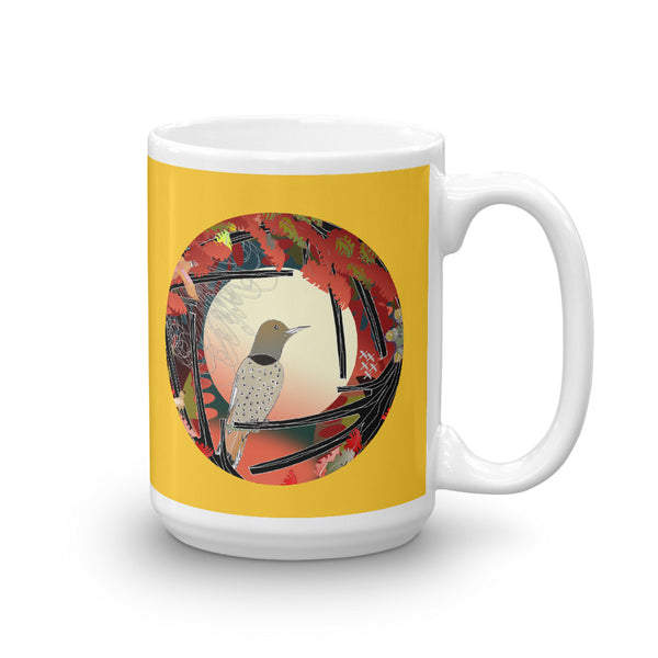 Mug, Fall Northern Flicker Gold