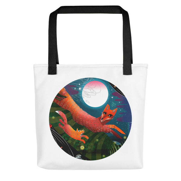 Tote bag, Autumn Foxes