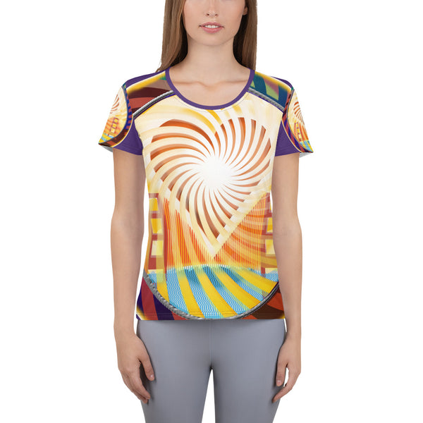 All-Over Print Women's Athletic T-shirt, The Heart Of San Francisco