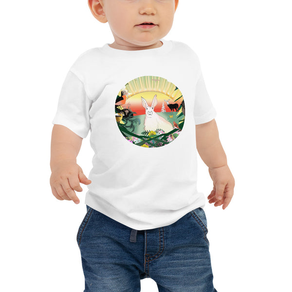 Baby Jersey Short Sleeve Tee, Spring Rabbit