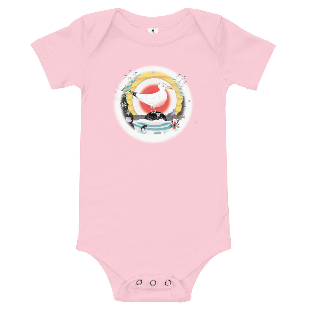 T-Shirt baby body suit, Summer Gull