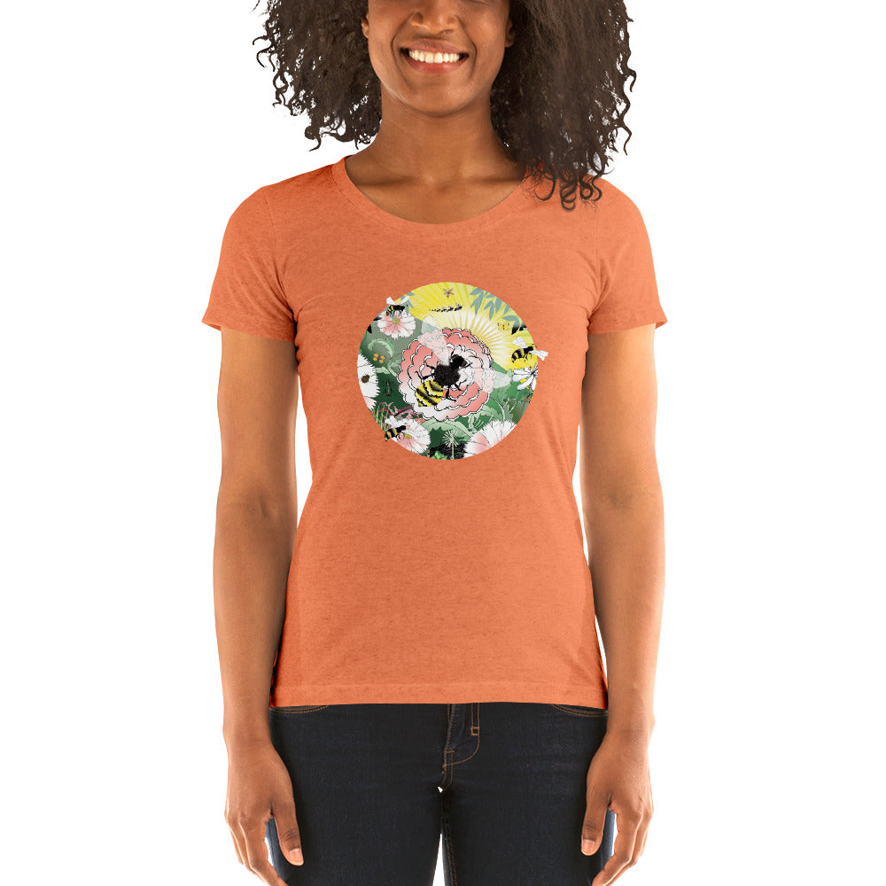 Ladies' short sleeve t-shirt, Spring Bee