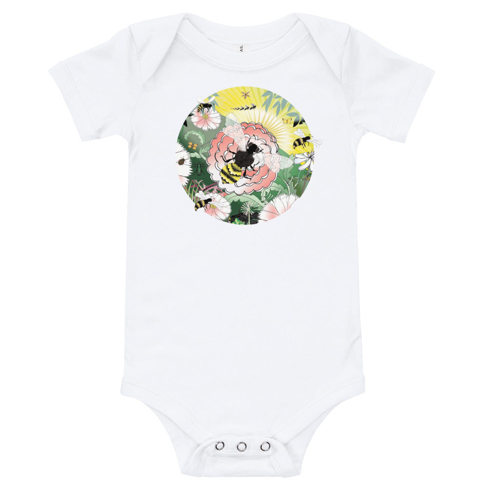 Baby Cotton Body Tee, Spring Bee