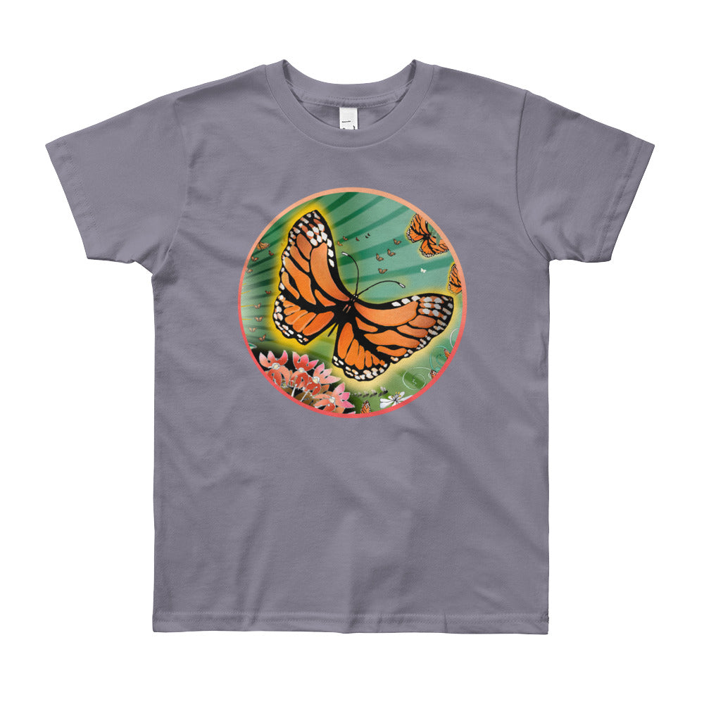Youth Short Sleeve T-Shirt, Summer Monarch