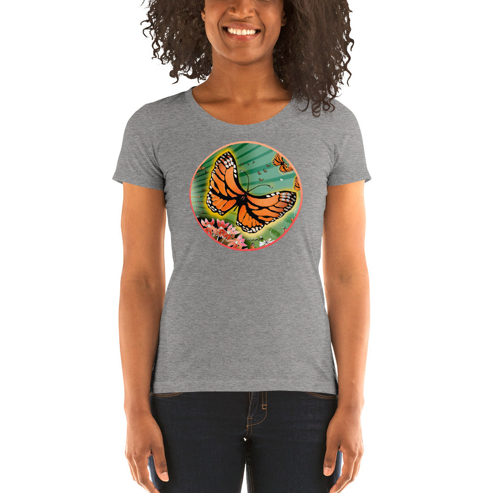 Ladies' short sleeve t-shirt, Summer Monarch