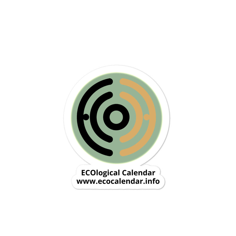 Bubble-free stickers, ECOcalendar logo