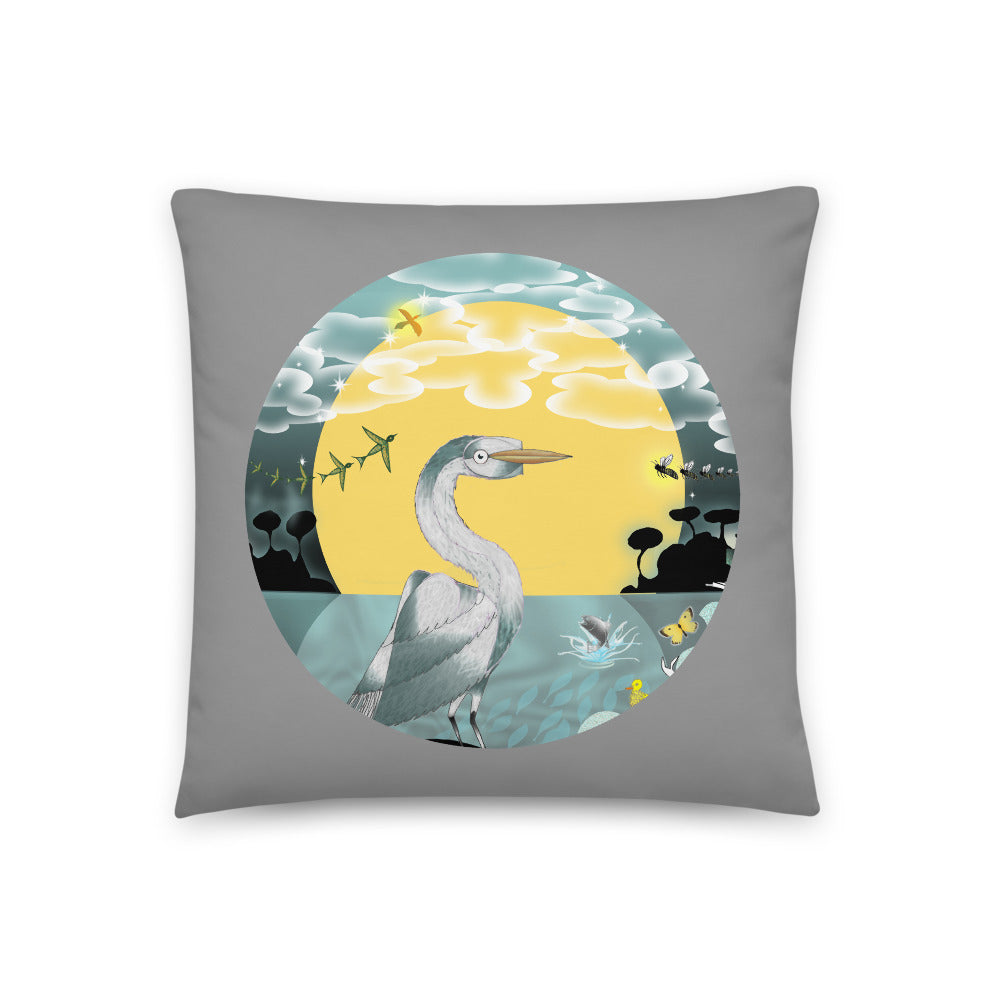 Basic Pillow, Spring Egret