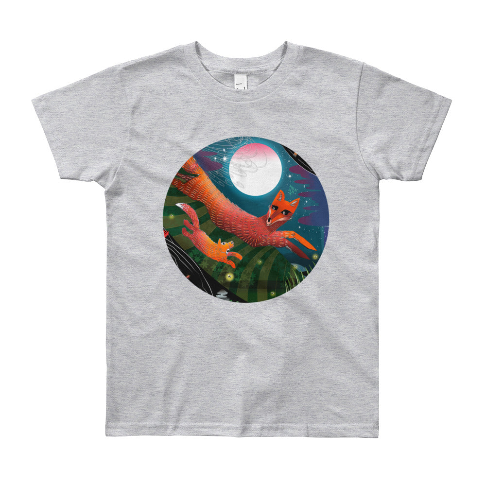 Youth Short Sleeve T-Shirt 8 - 12, Autumn Fox