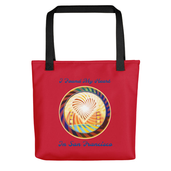 Tote bag, The Heart of San Francisco Valentines Day Sale