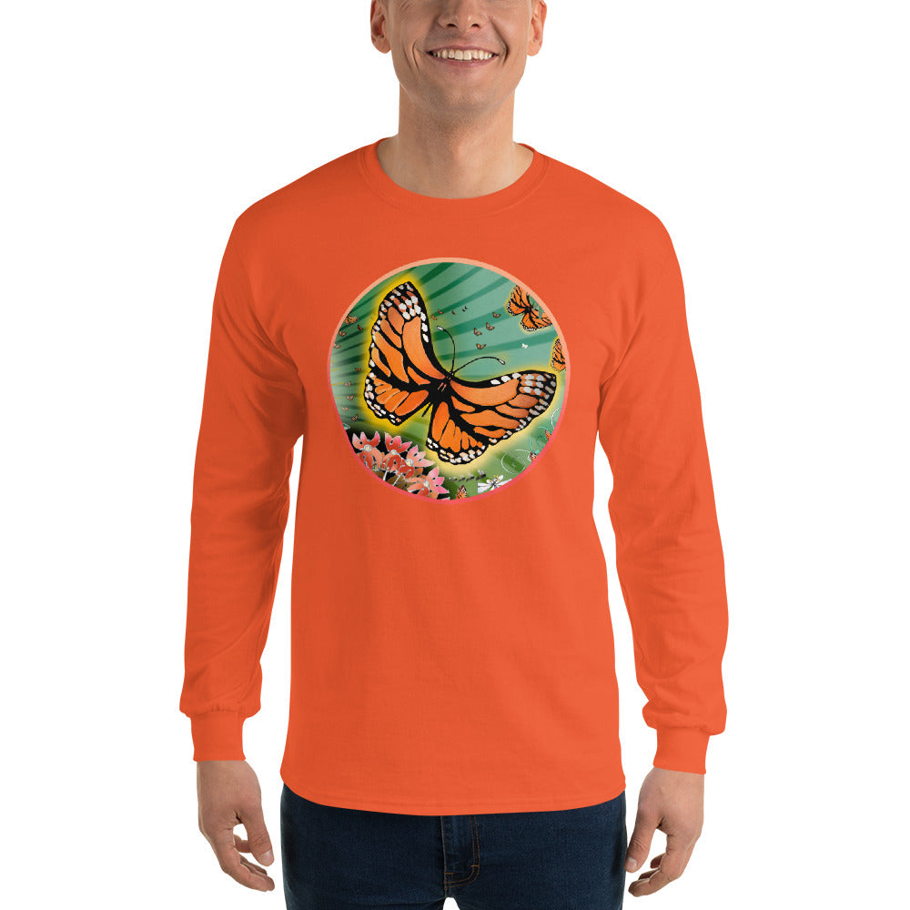 Long Sleeve T-Shirt, Summer Monarch
