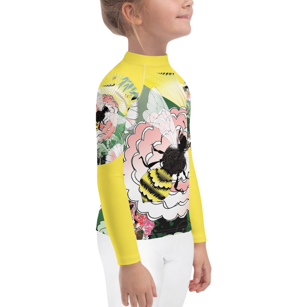 Kids Rash Guard, Honey Bee