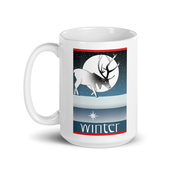 Mug, Winter Deer Gift Set or Individual Mug Sale!