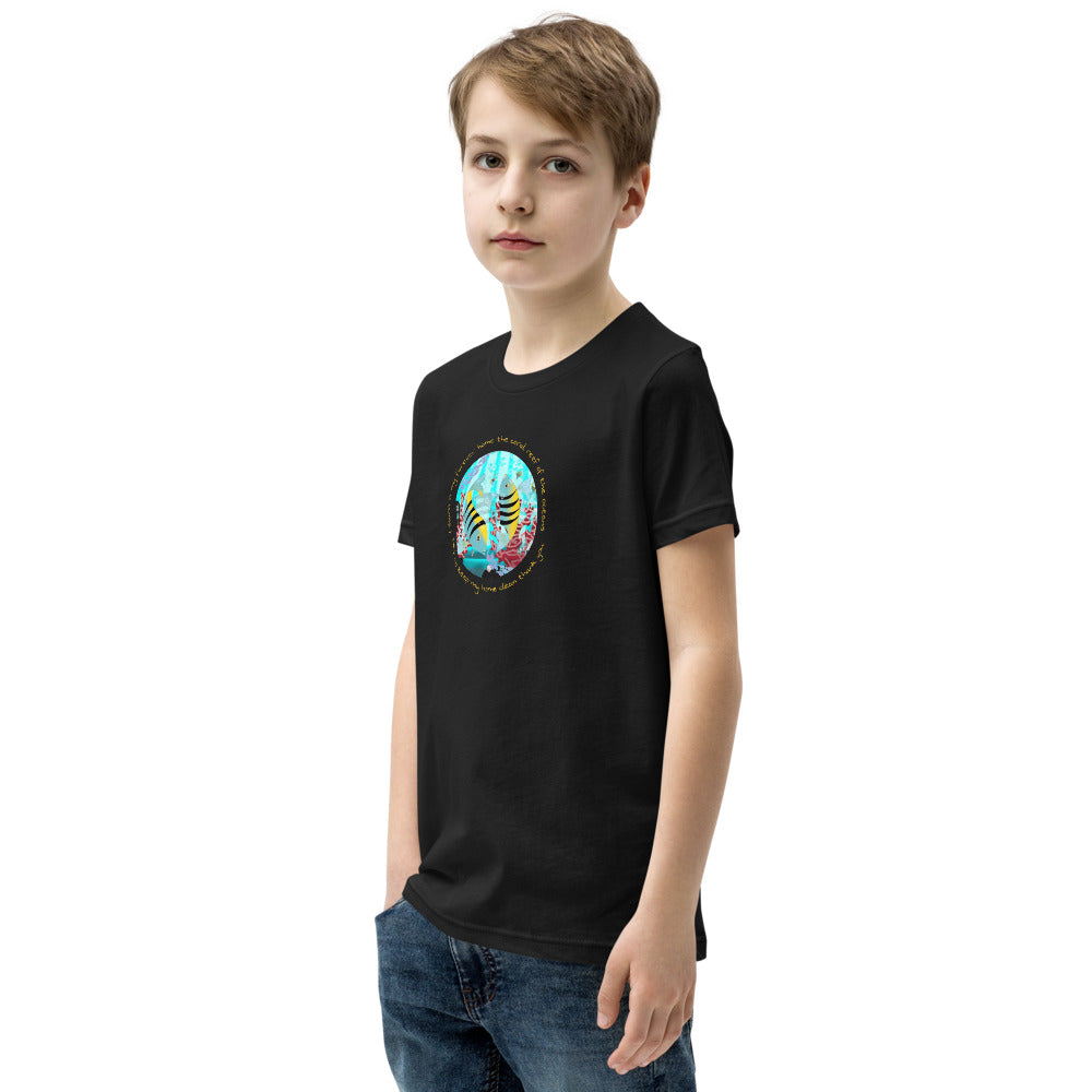 Youth Short Sleeve T-Shirt, Coral Reef Fish