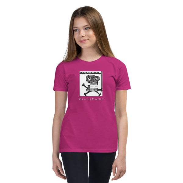 Youth Short Sleeve T-Shirt, Dia de los Muertos