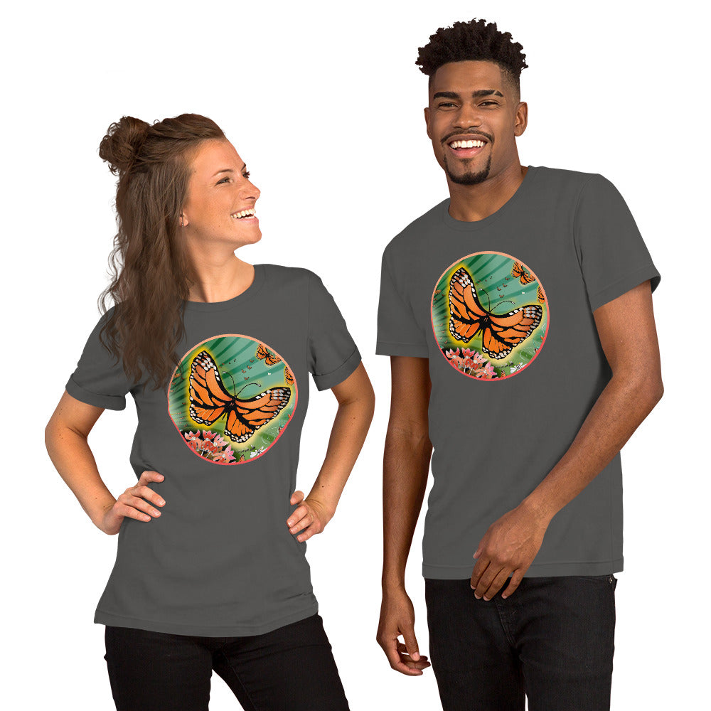 Short-Sleeve Unisex T-Shirt, Summer Monarch