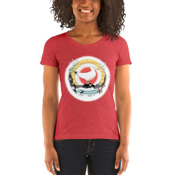 Ladies' short sleeve t-shirt, Summer Gull