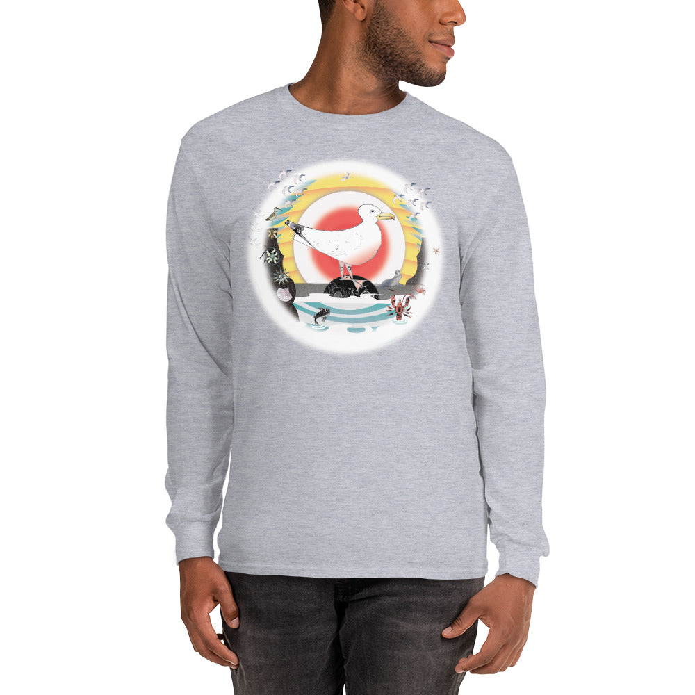 Long Sleeve T-Shirt, Summer Gull