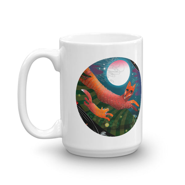 Mug, Fall Foxes