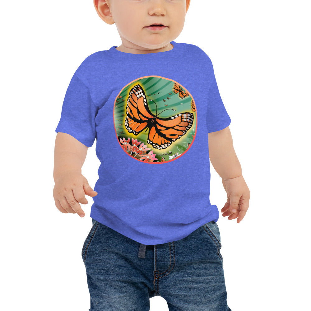 Baby Jersey Short Sleeve Tee, Summer Monarch