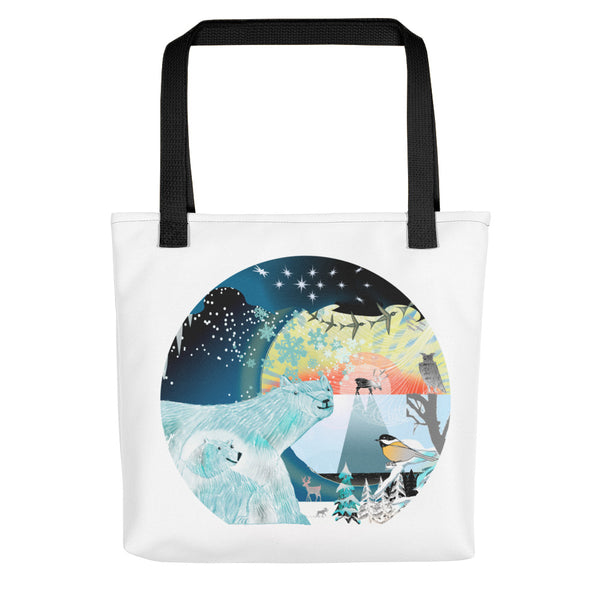 Tote bag, Winter Polar Bears