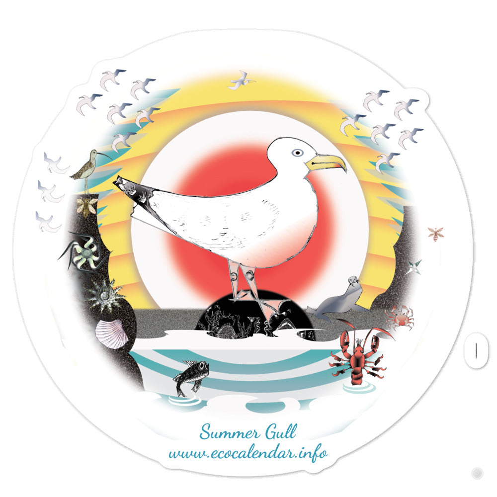 Bubble-free stickers, Summer Gull