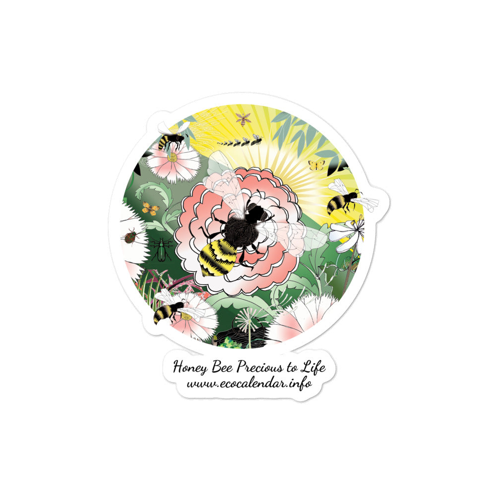 Bubble-free stickers, Spring Bee
