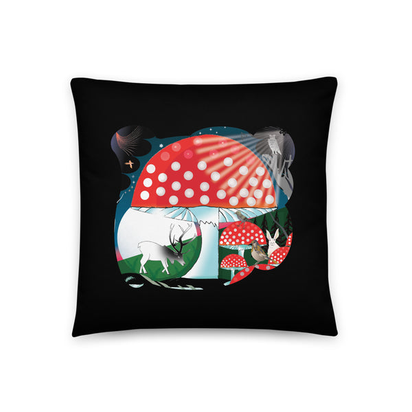 Basic Pillow, Winter Mushroom