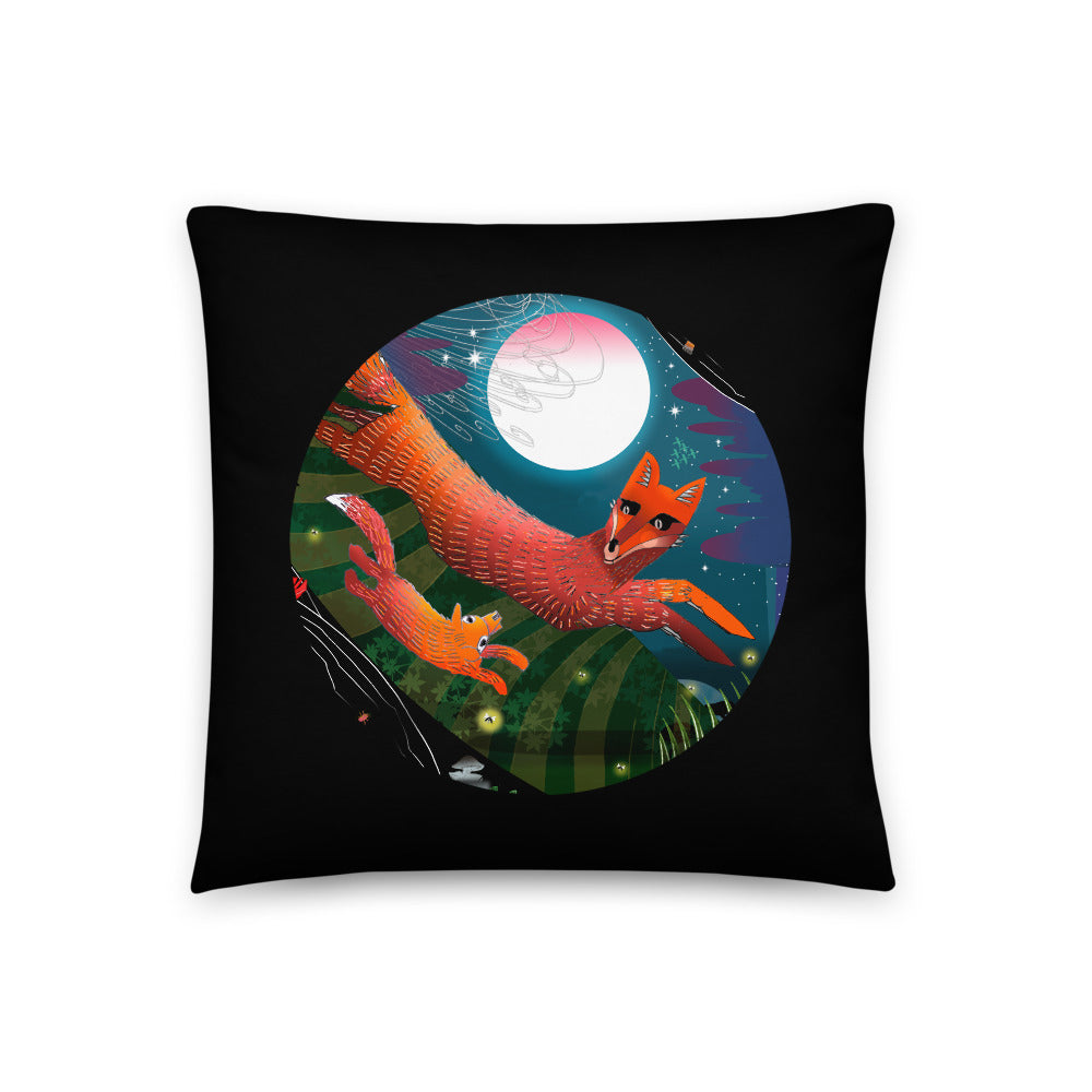 Basic Pillow, Fall Foxes